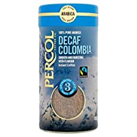 PERCOL Fairtrade Decaf Colombia Freeze Dried Instant Coffee 100g