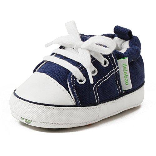 17365dd9 DELEBAO Zapatos Lona Bebé Zapatillas Bebe Primeros Pasos para Bebes Recien  Nacidos Calzado Bebe con Suela
