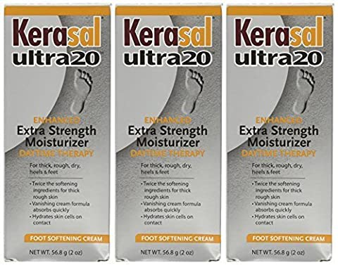 Kerasal ultra20 Extra Strength Moisturizer Foot Cream (Daytime Therapy)-2 oz (Pack of 3) by Kerasal