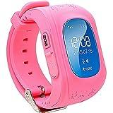 TURNMEON® Bambini Smartwatch GPS Della LBS Doppia Posizione di Sicurezza dei Bambini Osservare Attività Inseguitore SOS Chiamata di SIM Card per Android iOS (Pink)