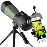 Gosky 20-60x60 Waterproof Spotting Scope -BAK4 Angled Spotting scope for Bird Watching Target