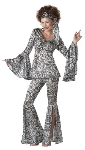Adult Kostüm Lady Foxy - Foxy Disco Lady Costume Adult Small 6-8