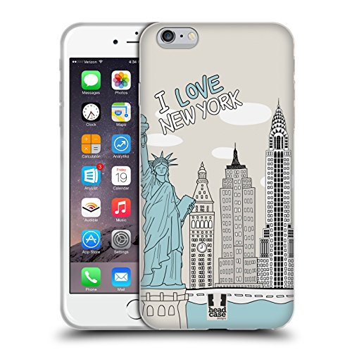 Head Case Designs Tour Di New York Doodle Di Citta Cover Morbida In Gel Per Apple iPhone 5 / 5s / SE Tour Di New York