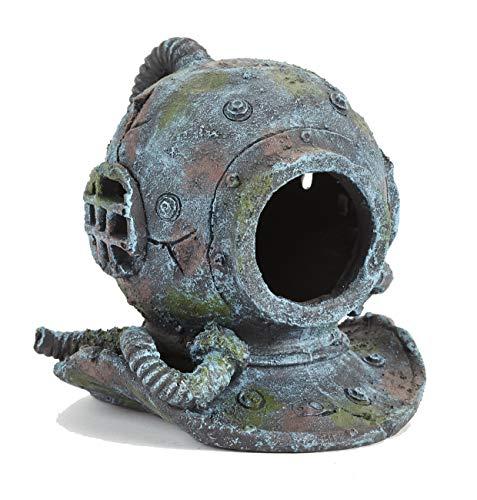 Pet Ting Dekoelement für Aquarien, Motiv: Taucher mit Helm, groß