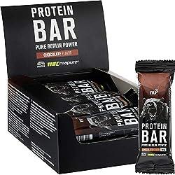 nu3 Barres Protéinées au Chocolat - 12 x 50g - Barres contenant 40% de Protéines de lait - 20g de Protéines par barre - Saveur Chocolat - Parfait pour la prise ou le maintien de masse musculaire