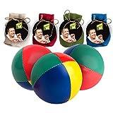 Mister M  Premium Profi Jonglierbälle Set  mit online Lern Video  Das Ultimative 3 Ball Jonglierset