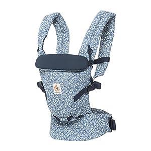 511w5egAbeL. SS300  - Ergobaby - Mochila Portabebes Ergonomico para Recien Nacido,  3-Posiciones, Azul (Batik Indigo)