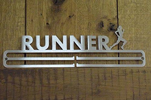 Medal Hanger Display 'Female Runner' Stainless Steel 2 0