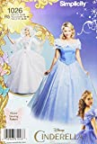 Simplicity 1026 Size R5 Disney Cinderella and Fairy Godmother Misses Costumes Sewing Pattern, Multi-Colour