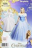 Simplicity 1026Tamaño R5Disney Cenicienta y Fairy Godmother Patrón de Costura para Disfraces de Mujer (Tallas