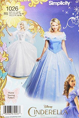 �ße R5Disney Cinderella und läßt Gute Fee Kostüme Schnittmuster, mehrfarbig (Y The Last Man Kostüm)