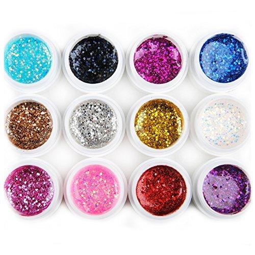 fashion-galerie-12-farben-uv-gel-nagel-kunst-farbgele-glitter-gelpolish