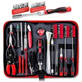 Hi-Spec 73 Piece Professional Tool Kit with Ratcheting Screw Driver, Pozidriv Bits, Precision Triangle, Pentahole & Hex Precision Bits, Wire Stripper for IT, Computer, Smartphone & Electronics Repair