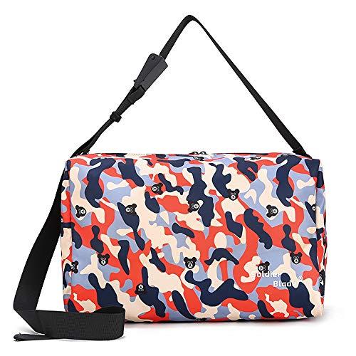 Whatuneed borsa da palestra sportiva mimetica, borsone per bagagli da viaggio palestra sport da campeggio per uomo donna - pieghevole leggera