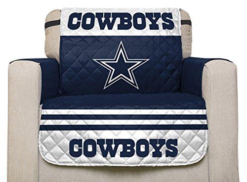 Pegasus Home Fashions NFL Dallas Cowboys Stuhlschutz mit elastischen Riemen, Team-Farbe 75 x 65