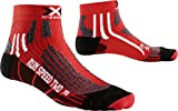 X-Bionic CALCETIN Run Speed Two Rojo/Negro 42/44 CALCETIN Run Speed Two Rojo/Negro 42/44, Unisex Adulto, Rojo/Negro, 42/44