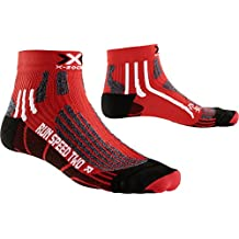 X-Socks de hombre X Run Speed Calcetín 2 unidades, otoño/invierno, hombre, color rojo, negro, tamaño 42-44