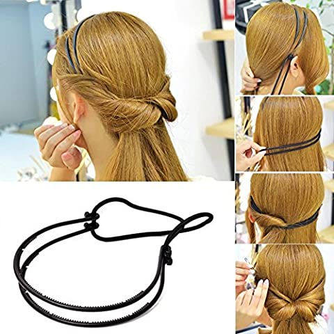 XYXY Accessori per capelli elegante donna Anti Slip fascia capelli cerchio con (confezione da 12) - Guanto Secco Gancio