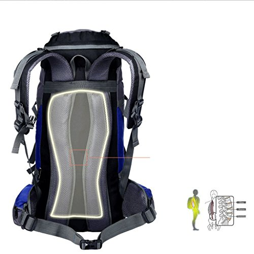 Flamme Outdoor-Camping-Rucksack Bergsteigen Tasche wasserdicht Reiten Profi-Paket tiefblau