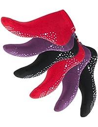 6 Paar Damen Sneaker Pilates, Yoga, Kampfsport, Gym, Tanz - Kein Rutschen durch ABS - Größen 35-42 - Qualität von celodoro