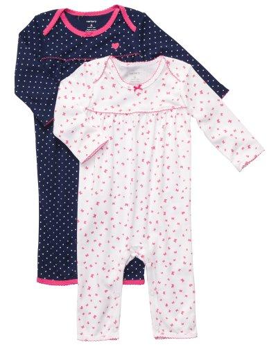 carters-2-spieler-einteiler-fur-madchen-baumwolle-56-62-baby-sommer-schlafanzug-kleidung-2-teile-new