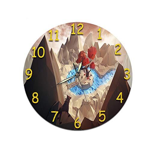 xiaomomo521 Uhr Wanduhr, Acryl Stille Uhr, Wanduhr Randlosen Wecker 33cm m-038 (Nachtlichtzeiger)