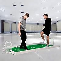 BUSDUGA-Fussballspiel-fr-1-gegen-1-Duelle-zuhause-indooroutdoor-Fuballfeld-250x140cm-komplett-Set-2xTore-1xBall-Teppich-und-Bande-WELTNEUHEIT-EINZIGARTIG