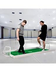 Fussballspiel für 1 gegen 1 Duelle zuhause - indoor&outdoor Fußballfeld 250x140cm komplett Set , 2xTore , 1xBall , Teppich und Bande WELTNEUHEIT - EINZIGARTIG