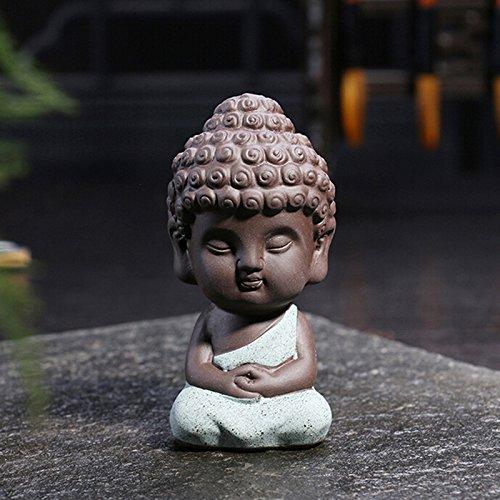 Youger Kleiner Buddha Statue Mönch Figur, Cute Tathagata Indien Yoga Mandala Skulpturen Outdoor Home Decor, Stil 4 -