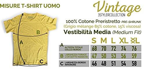 3stylercollection vintage - Camiseta - para hombre Giallo Vintage L