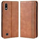 HualuBro Coque pour Samsung Galaxy A10, Etui Housse à Rabat en Retro PU Cuir Flip Leather Case...