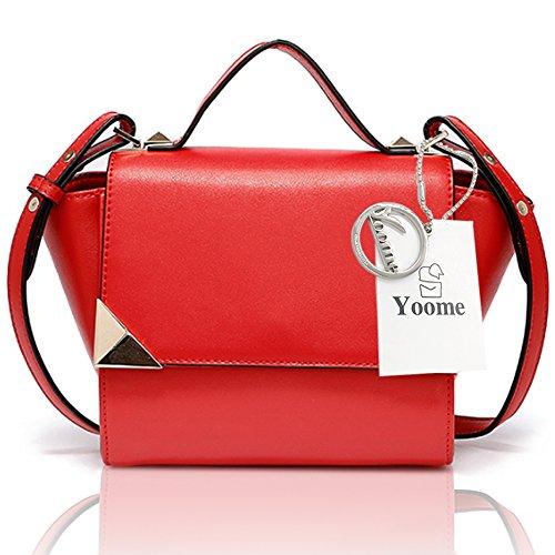 Borsa Yoome Retro Flap Bag Wings Elegante Per Dating Borse Tiny Per Adolescenti Nuovi Borse Chic Per Le Donne - Grigio Rosso