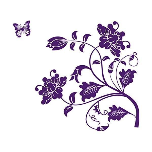 d42c40f7f06 Decals Design  Vine Flower  Wall Sticker (PVC Vinyl