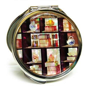 Miroir à main, motif à double Miroir compact Nacre cadeau, étagère