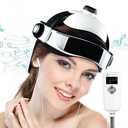 REAQER Masajeador eléctrico de la cabeza de la vibración neumática inteligente con sendación de presión como dedos masaje de relajación con música relajante
