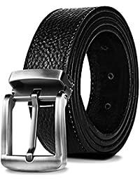 Weillcce Cinturones de hombre Cinturón de negocios Cinturones de 100% piel Cinturón de hebilla automático Para la mayoría…