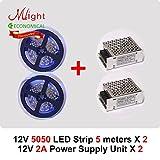 Generic White : 10 meters 12V 5050 LED S...