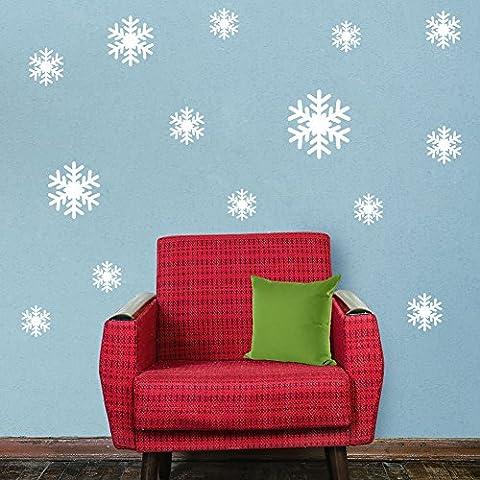 asenart Frozen Dream Blanco Nieve extraíble adhesivo para pared ventana decols Decoración del hogar Tamaño 12