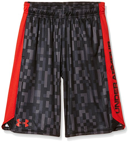 Under Armour Jungen Fitness Eliminator Printed Shorts, Graphite, YXS, 1257821