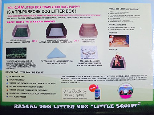 DOG LITTER BOX LITTLE SQUIRT BY THE RASCAL DOG LITTER BOX COMPANY. AS SEEN ON DRAGON'S DEN ....... 9