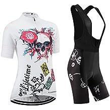 (Cojín 3D)(traje tamaño:M) transpirable Jerseys los corta ropa rendimiento sudo manga chaleco para mujer Moda de rompevientos ciclismo maillot