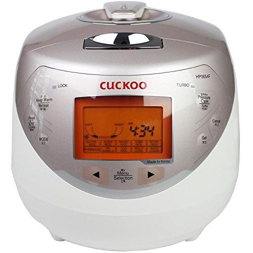 Cuckoo CRP-HP0654F Arrocera digital para inducción (1,08 l / 1040 W / 220 V–240 V) con presión de vapor y tecnología Fuzzy Logic, arroz para hasta 4 personas