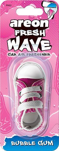 Areon Fresh Wave Pink Sneaker Hanging Car Air Freshener, Bubble Gum Scent by Areon