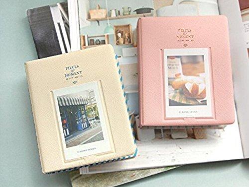 PRIMI 64Taschen Mini Album Fall Speicher für Polaroid Foto Fujifilm Instax Film Größe (Pink) (33 Album-speicher)