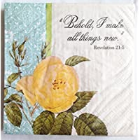 Behold, I make all things new. Inspirational 3-Ply Large Party Napkins Great for a Church, a Wedding or Spring... preisvergleich bei billige-tabletten.eu