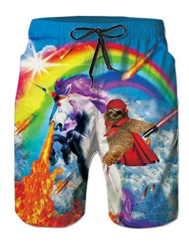 uideazone Unicornio Bañador Hombre Chico Playa Pantalon Corto Hombre Deporte Traje de Bano