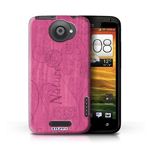 Kobalt® Imprimé Etui / Coque pour HTC One X / Rose / Jaune conception / Série Motif Nature Rose