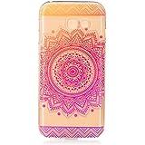 Samsung Galaxy A5 2017 Hülle,LTWS TPU Silikon Hülle für Samsung Galaxy A5 2017 Handyhülle Schale Etui Protective Case Cover dünn mit Drucken Muster - iindisches Heilige Blume Mandala Rose