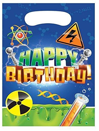 8 Partytüten * FORSCHER * für Kindergeburtstag oder Mottoparty // Kinder Geburtstag Party Mitgebsel Tüten Geschenktüten Motto Experiment Chemie Labor Atom Reagenzglas