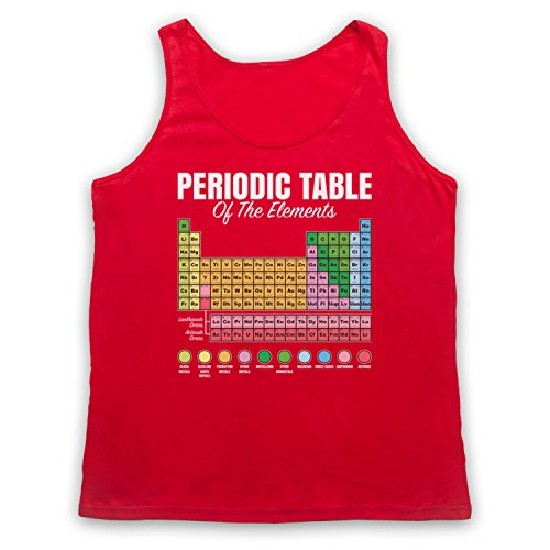 Periodic Table Of Elements Science Geek Tank-Top Weste Rot